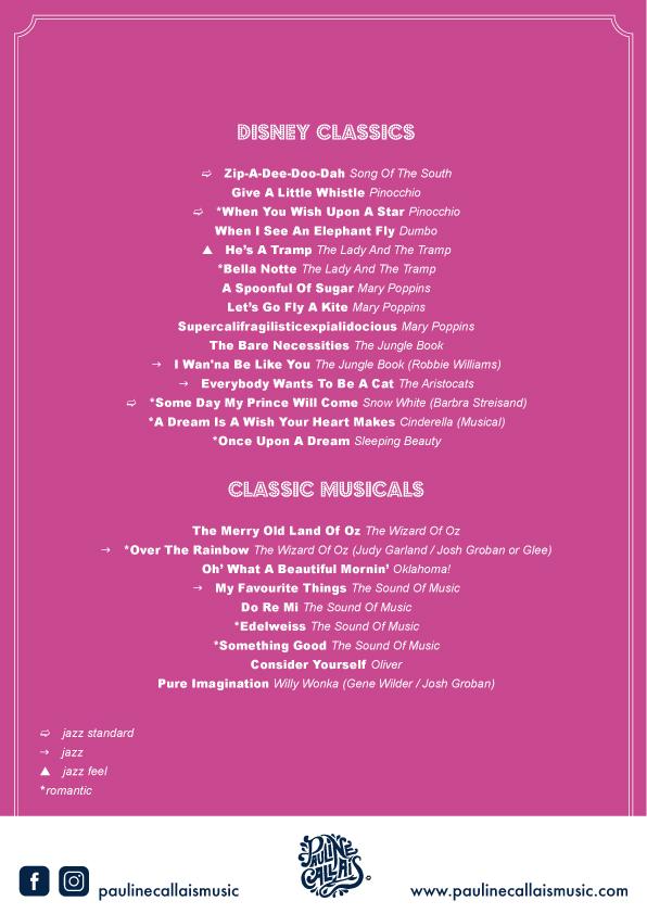 Disney & Musicals, Classics