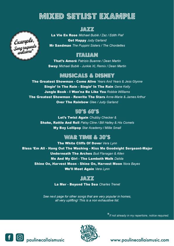 Mixed Setlist 1