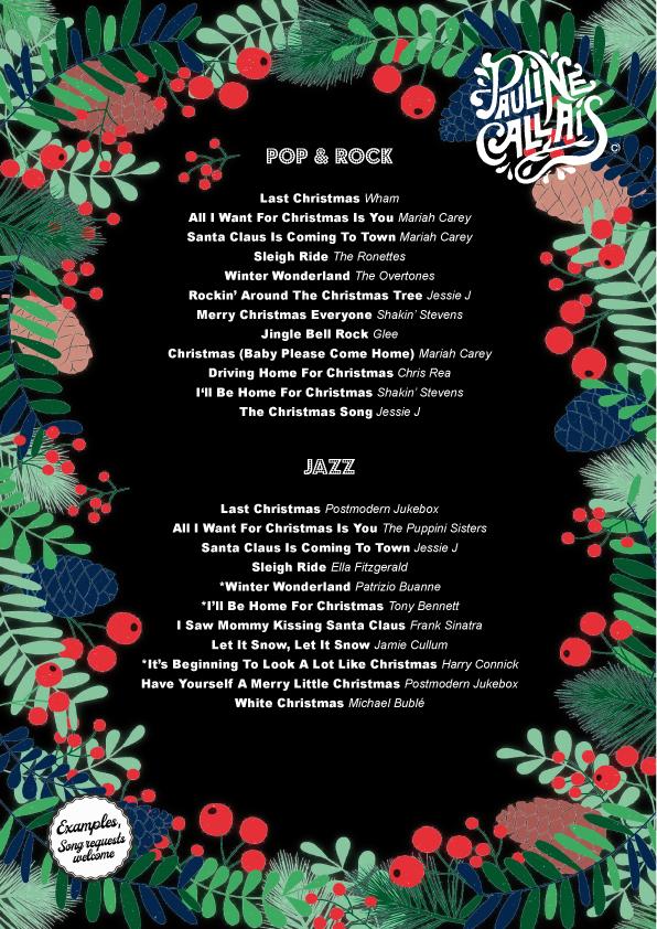 Christmas setlist