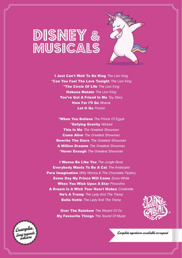 Disney & Musicals