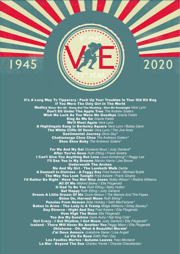 VE Day setlist